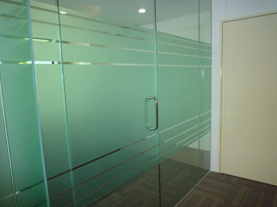 office glass door. Glasstime Produces Doors In Any Size, Color And Thickness Depending On The Customer Demand. Also It Is Possible To Perform Sand Blasting Design, Office Glass Door